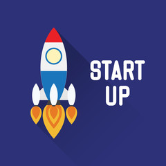 Rocket Symbol with explore concept