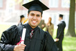 Graduation: Hispanic Student Happy to Graduate - 80012431
