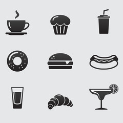 Food and drink. Vector icon set.