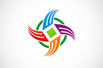 circle fan vector logo