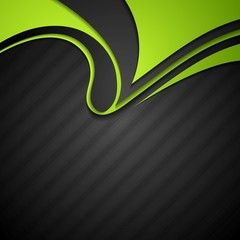 Vibrant corporate abstract background with wavy pattern