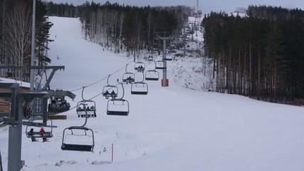 Горнолыжный курорт Mountain and ski lift