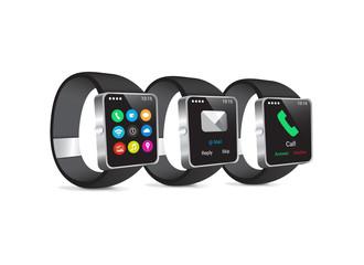 Black Modern Smartwatch Wearable Set