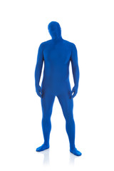 Blue: Man Just Looking at Camera