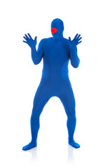 Blue: Man with Clown Nose