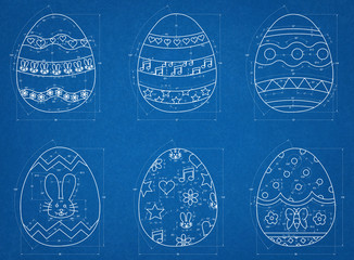 Easter Eggs Blueprint