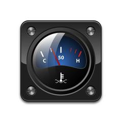 Vector motor temperature gauge icon