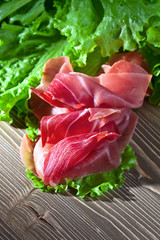 jamon with salad
