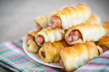sausage baked in pastry