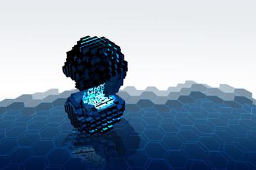Abstrakter Würfel Hexagon 3 Demensional V2