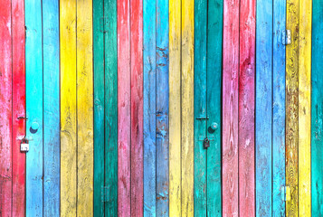 color painted boards