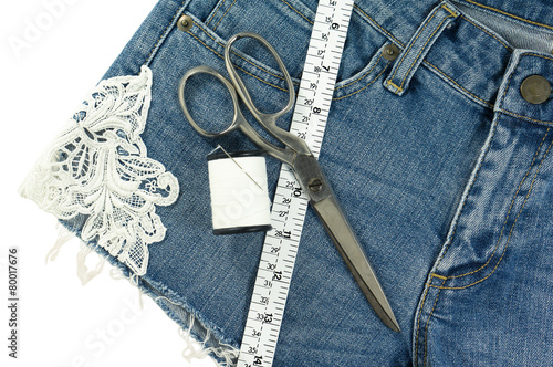 Shorts jeans diy with lace - 80017676
