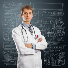 young doctor man with stethoscope