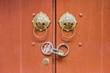 Metal door knockers and lock in Chinese design