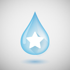 Water drop with a star