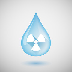 Water drop with a radio avtivity sign