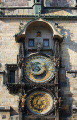 Astronomical Clock (Orloj) in the Old Town of Prague