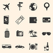 Vector Set of Travel and Vacation Icons. - 80021883