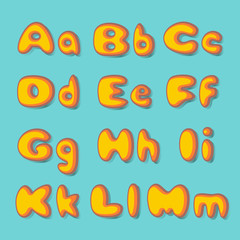 abc  fat  set in retro style