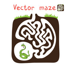 Vector Maze, Labyrinth with Snake