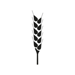 The wheat icon. Spica symbol. Flat