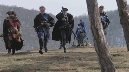 Fantasy Group Walking on hill