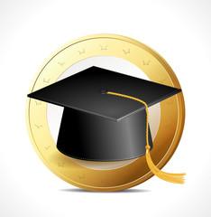 Money concept - education
