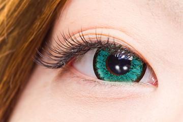 青いカラーコンタクトレンズ アジア人 日本人 colored contact lens