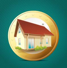 Money concept - own house