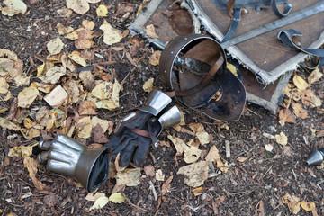 Knight armor helmet and gloves