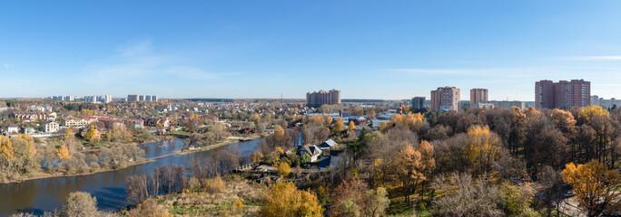 Troitsk City, Moscow District, birds eye view