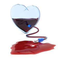Transparent heart with dropper