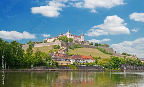Foto op Plexiglas Vestingwerk Festung Marienberg, das Wahrzeichen von Würzburg