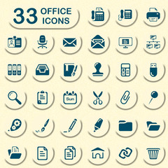 33 jeans office icons