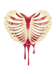 Red Bleeding Heart in Thorax