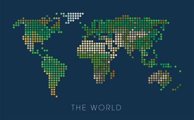 World Geographical Pixel Map