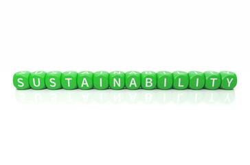 Sustainability Würfel grün