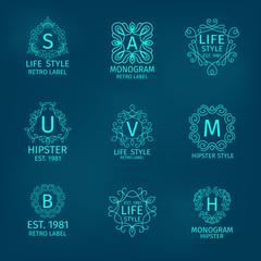 Monogram Hipster Set