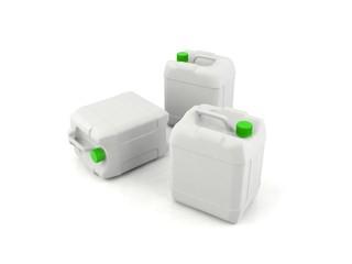 Plastic chemical bottles