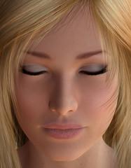 Close-up face of woman
