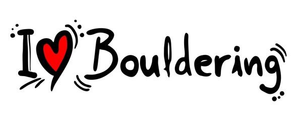 Bouldering love