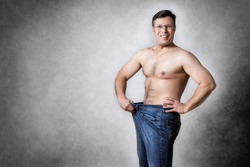 man has lost body weight