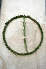 leaf taufe beton pflanze grün grau stein stein hochzeit