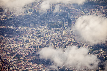 aerial view of Brussels, Belgium