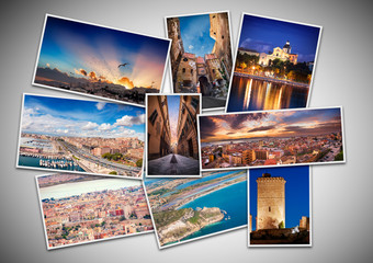 Collage best photos from Cagliari