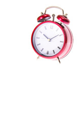 Red Alarm Clock. Isolated
