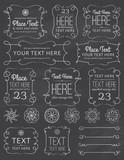 Chalkboard Swirl Frames & Elements - 80031887