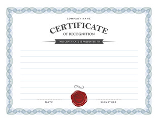 Certificate design template