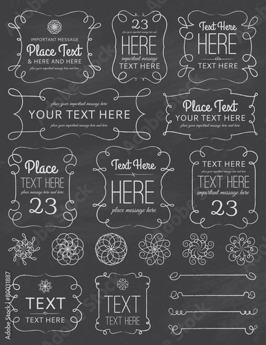 Chalkboard Swirl Frames & Elements - 80031887