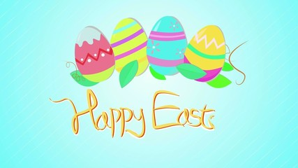 Happy Easter Card Colorful Animation